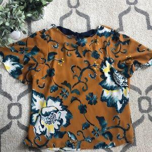 H&M Floral Chiffon Blouse